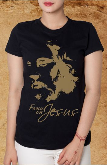 Kaos Focus On Jesus (Hitam)